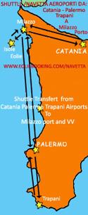 Transfert Aeroporto Catania Milazzo - Servizio Navetta