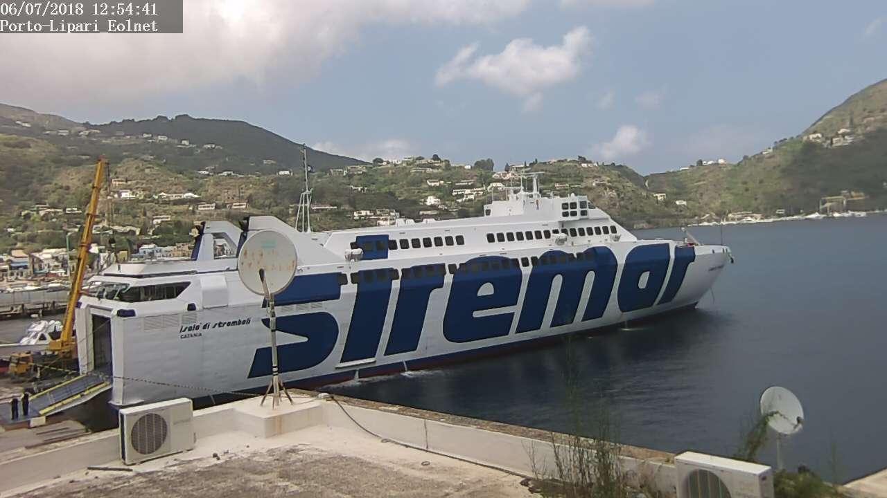 webcam Lipari - Isole Eolie - Porto Sottomonastero (ME)